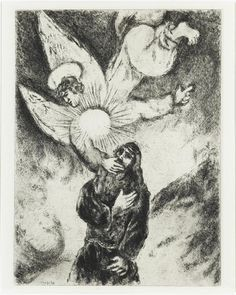 Marc Chagall - The Prophet Jeremiah Receives the Gift of Prophecy