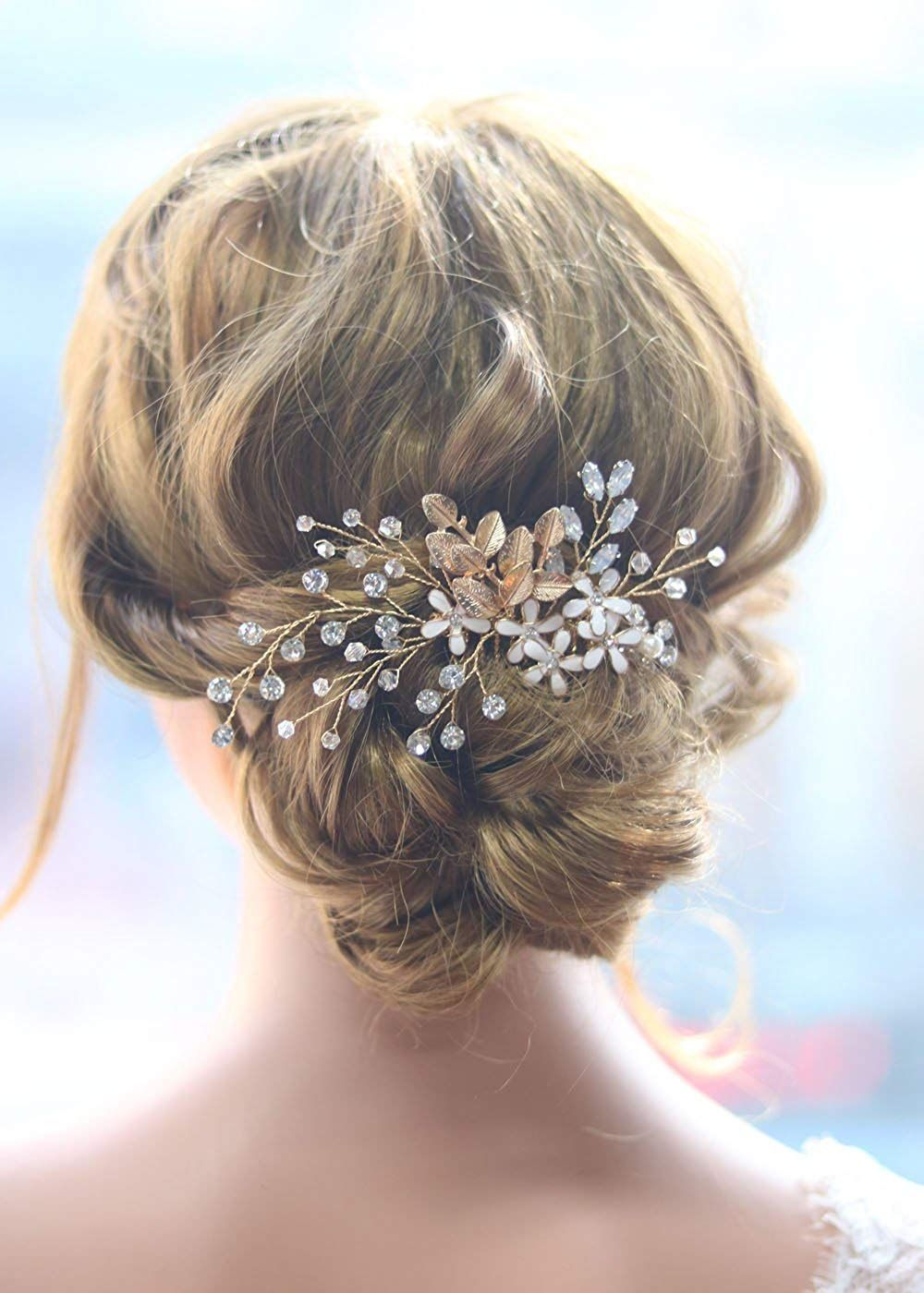 amazon: missgrace bridal vintage gold leaves and flower
