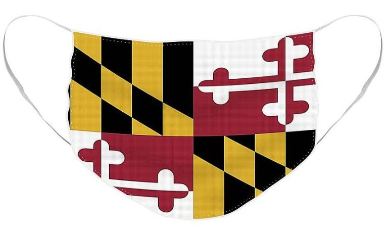 Maryland State Flag Face Mask For Sale By Robert Banach In 2020 Flag Face Face Mask Masks For Sale
