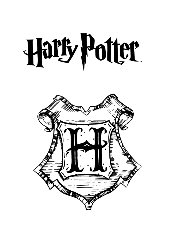 harry potter coloring pages online - Harry Potter Coloring Pages For Kids