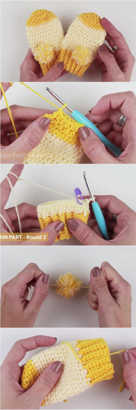 How to Crochet Fast and Easy Crochet Baby Mittens | Tejido, Bebe y ...