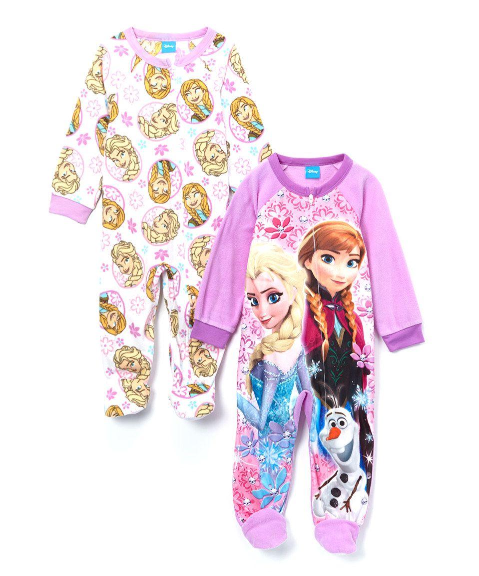 Another great find on #zulily! Pink Frozen Footie Set - Toddler by Frozen #zulilyfinds
