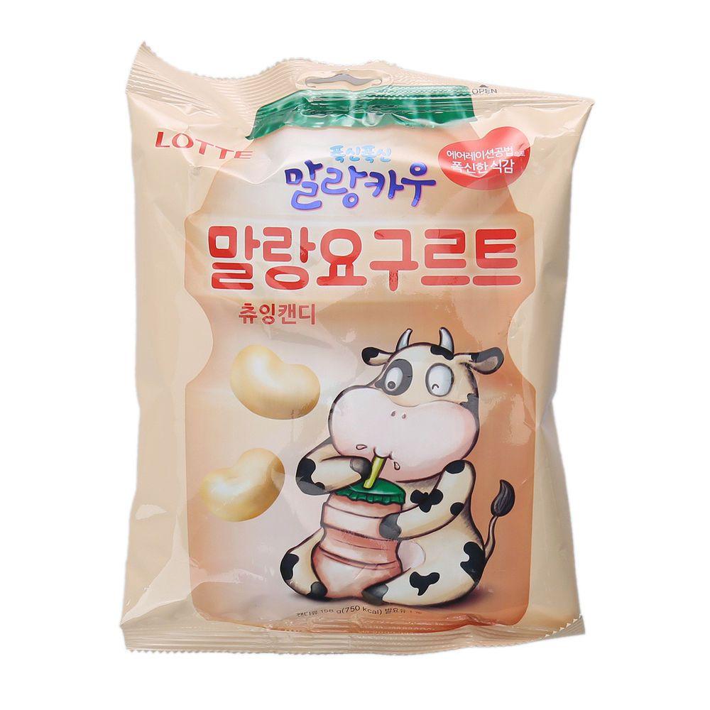 Korean Snacks Yogurt Malang Cow Soft Chewing Candy 158g Korean Snacks Snacks Gluten Free Puff Pastry