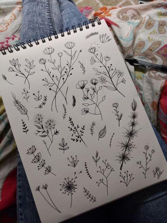 Photo of Botanicals #tattoos  Zeichnen | Doodles #flowertattoos – flower tattoos