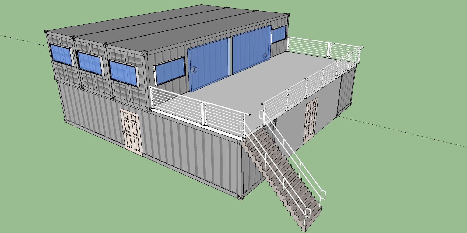 several shipping container home floor plans from $10- $25k via