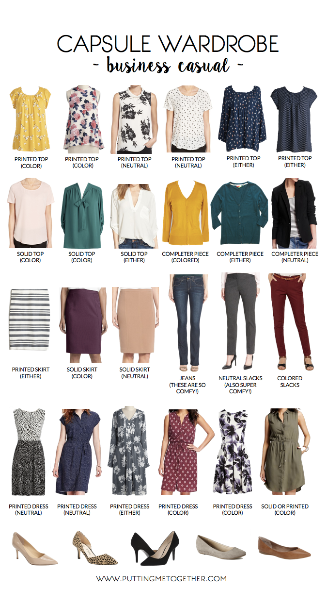Business Casual Capsule Wardrobe (Putting Me Together