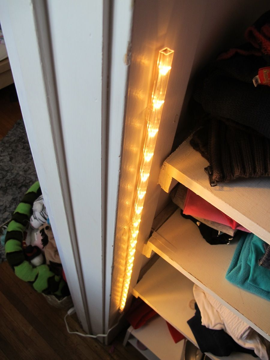A $15 Closet Lighting Solution. Something Like This Or A Touch Light Would  Get More Light In The Closet.