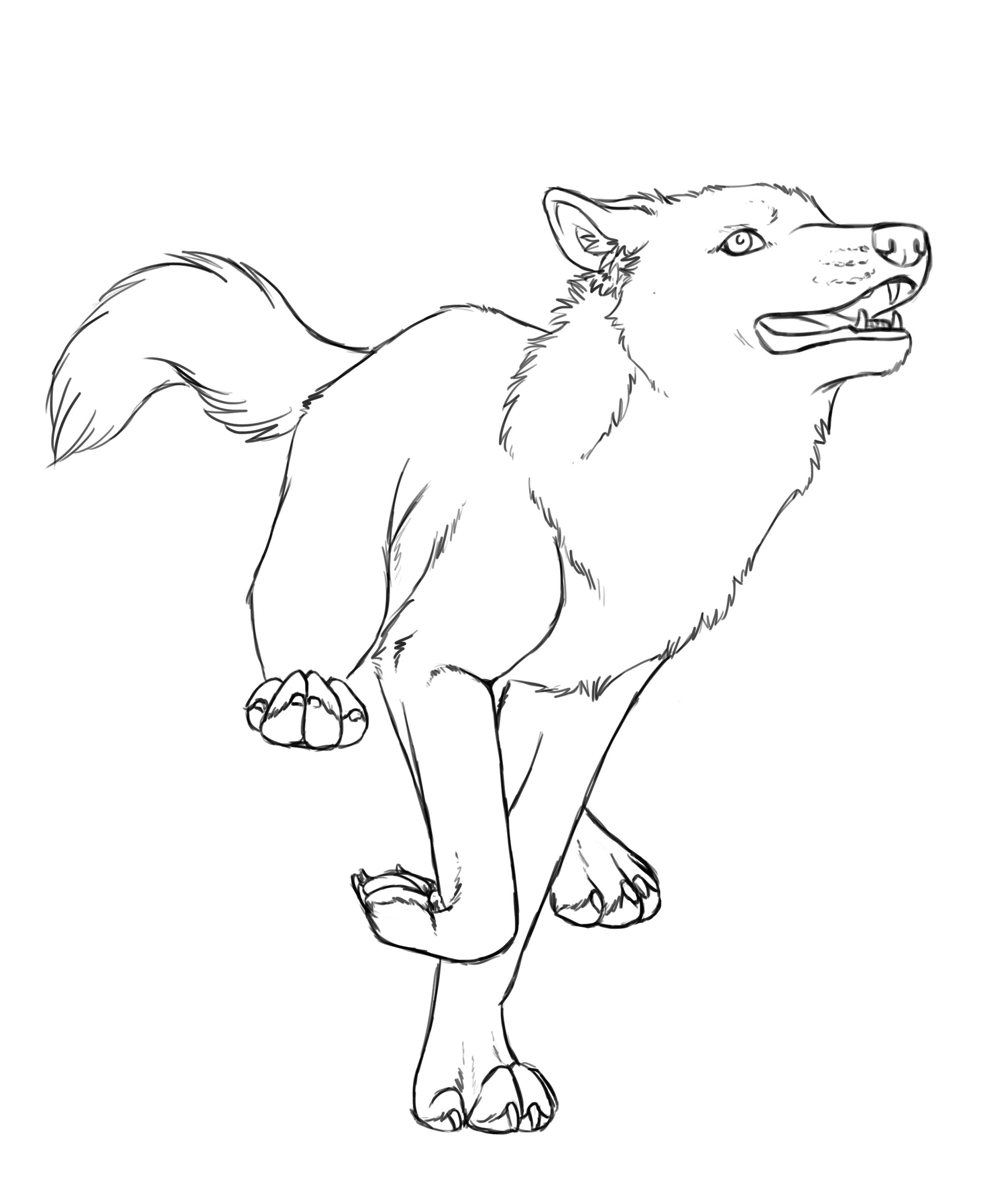 Раскраска волк прикольный