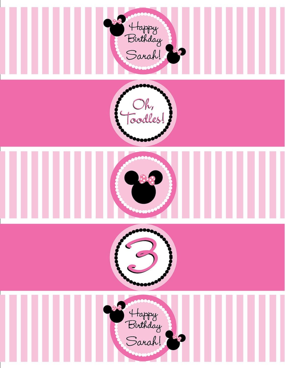 38++ Minnie mouse water bottle labels ideas in 2021