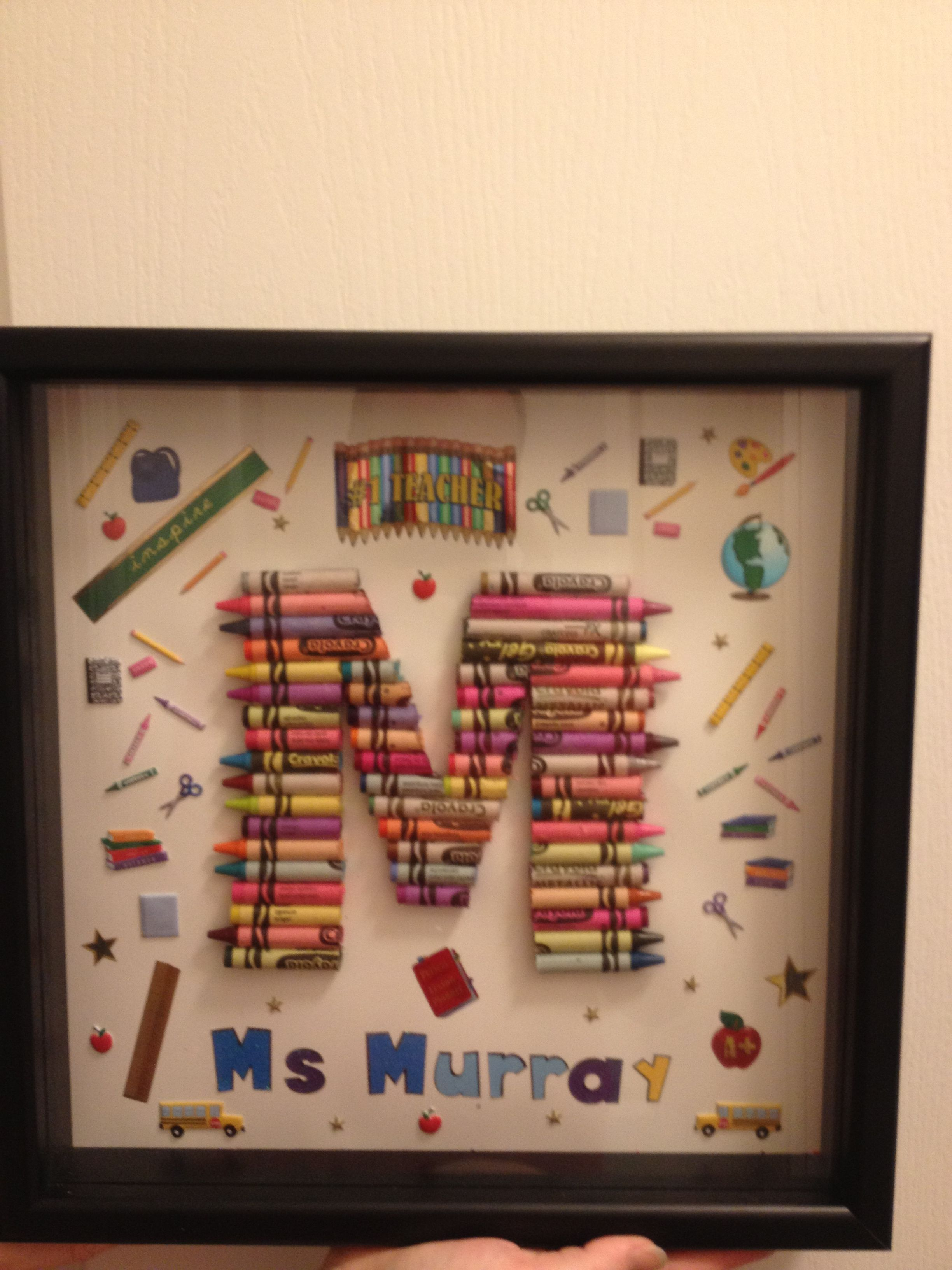 Crayon Letters A Gift To My Mother When She Retired Last Year