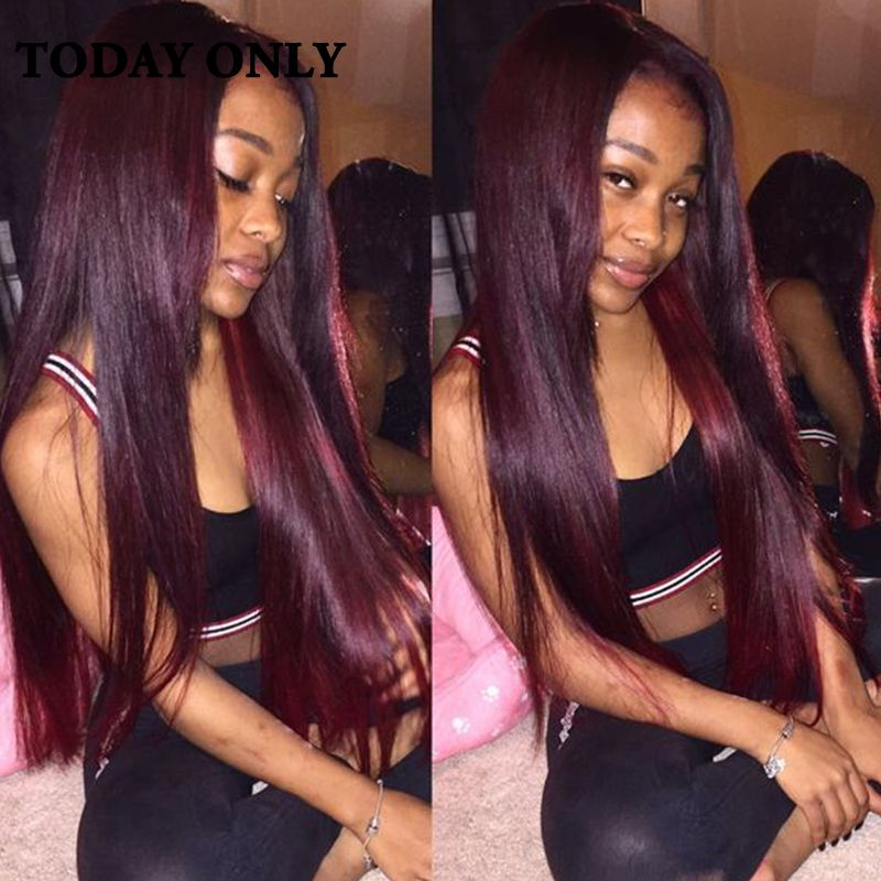 Top Brazilian Virgin Hair 4 Bundles 1b 99j Ombre Weave Straight