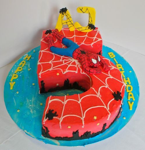 spiderman birthday cakes Google Search Recipes Pinterest