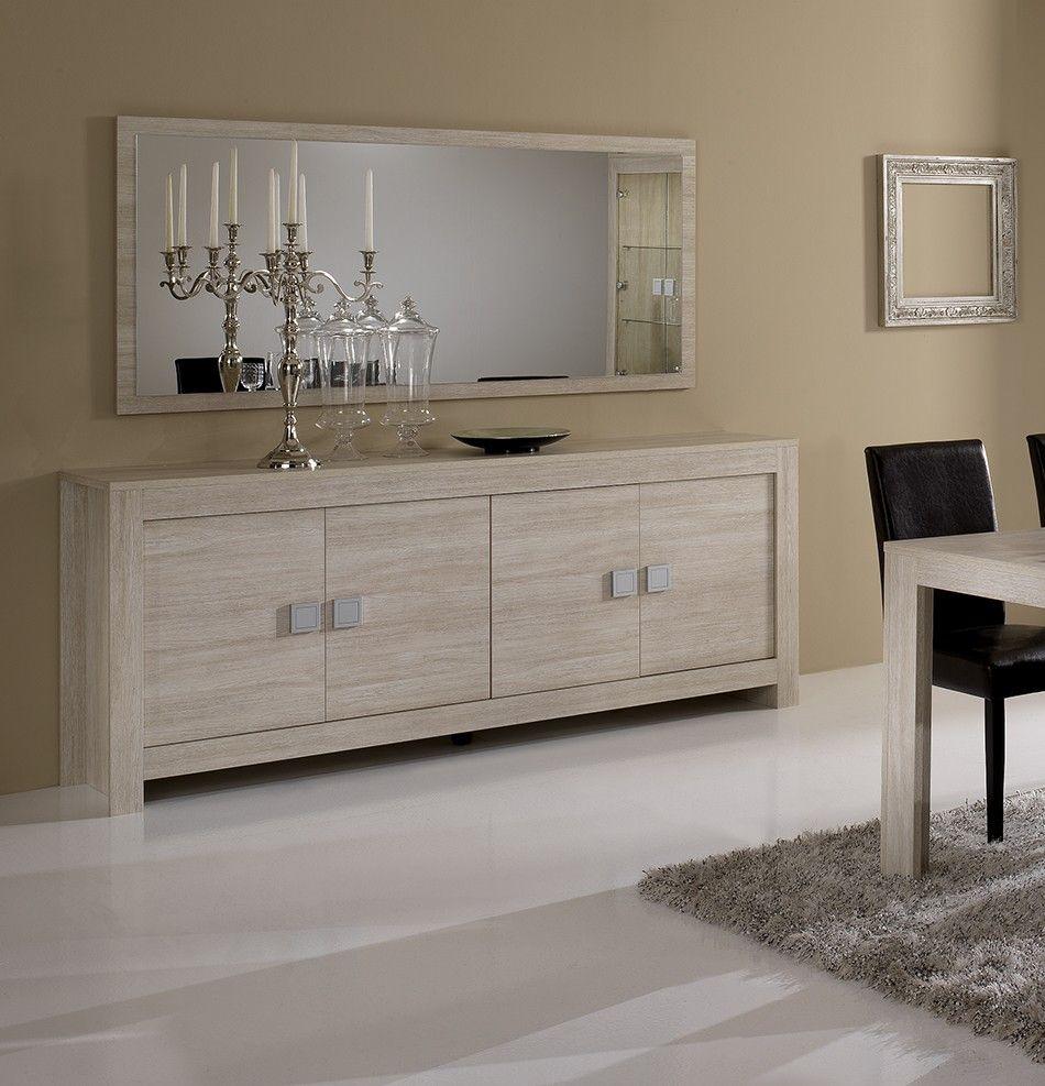 d marquez vous avec notre salle manger compl te pas cher couleur ch ne blanchi contemporaine. Black Bedroom Furniture Sets. Home Design Ideas