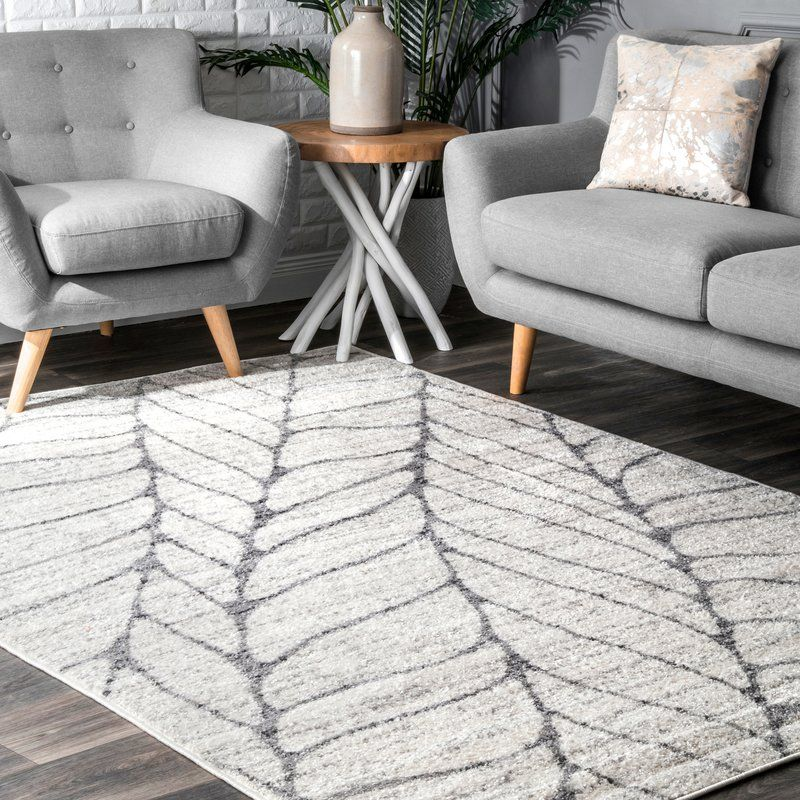 Sackett Abstract Light Gray Area Rug