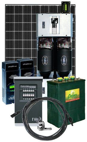 7,560 Watt Off-Grid Solar Power System with 6,000 Watt 48 Volt - Panneau Solaire Chauffage Maison