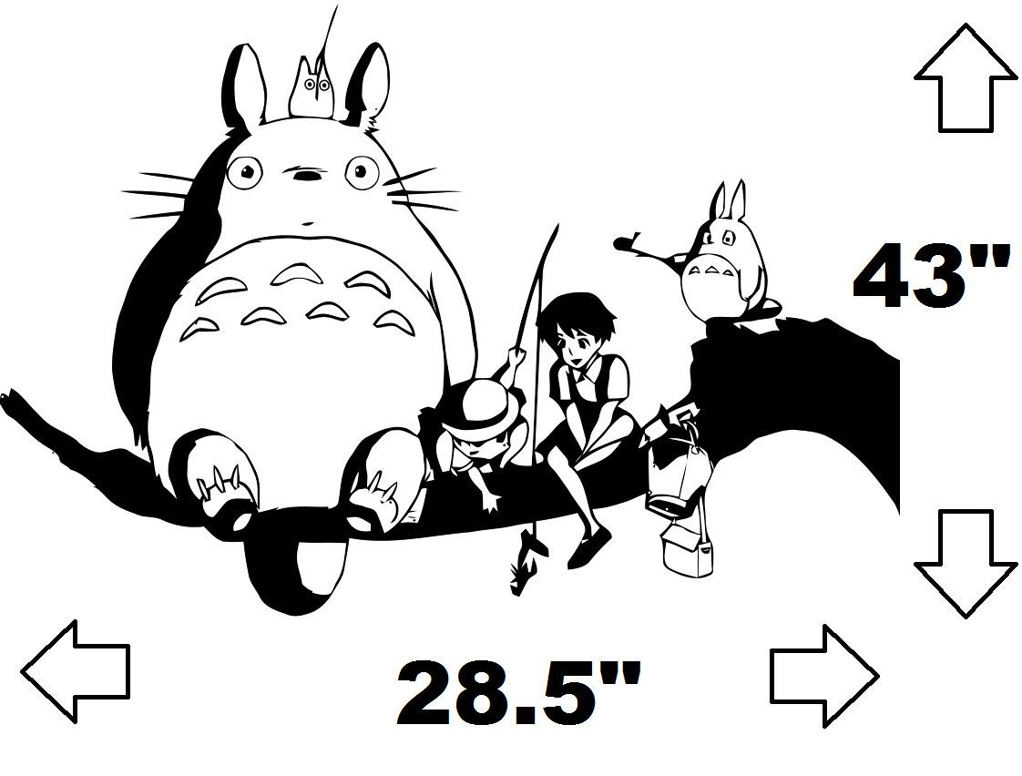 My Neighbor Totoro and Friends Wall Decal. $29.99, via Etsy. This would b