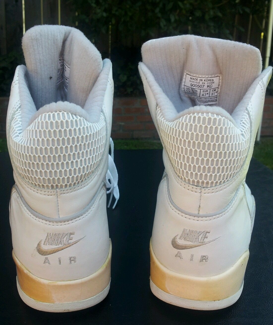 Vintage Nike Air Ultra Force Hi White on White 1990