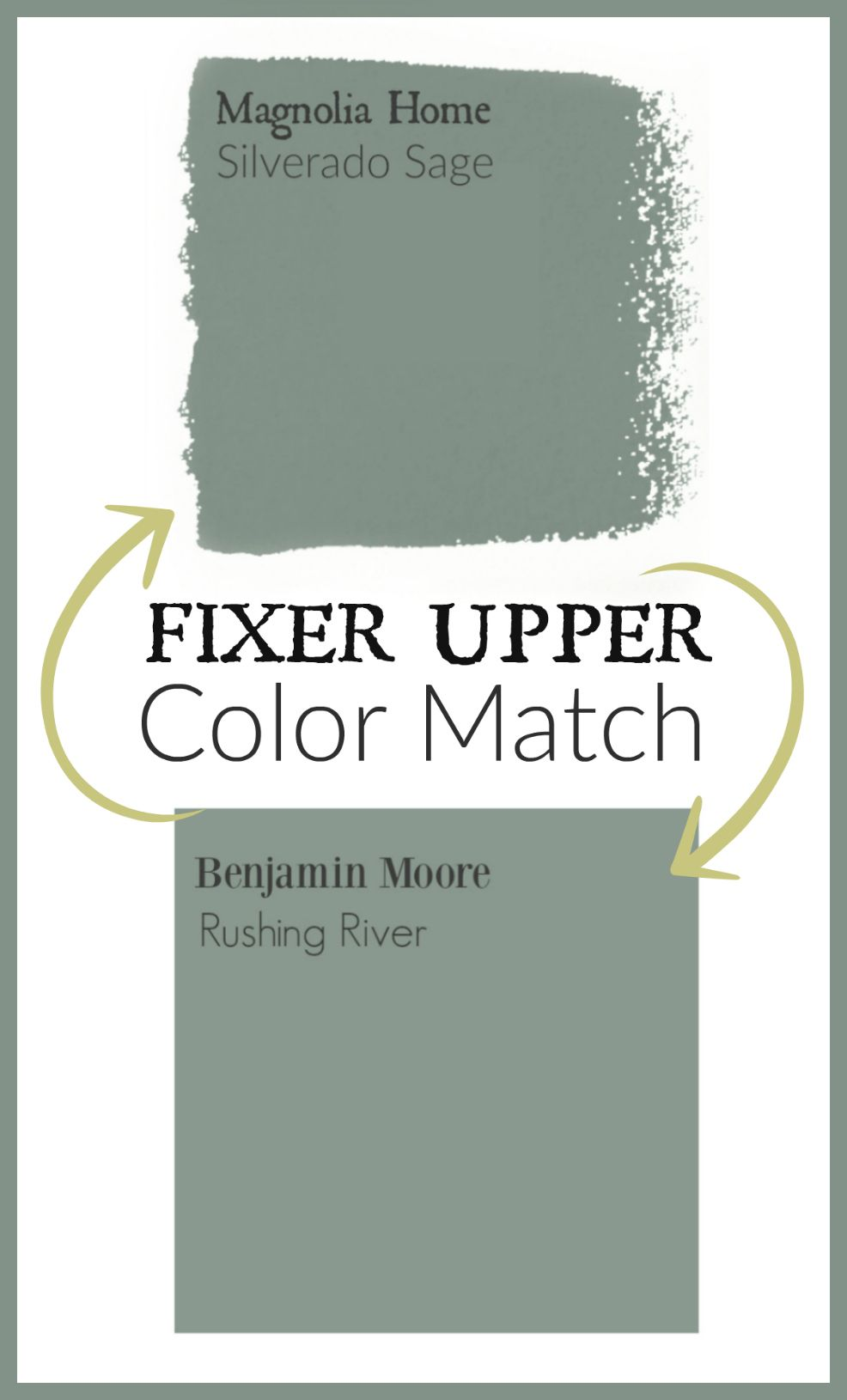 Fixer Upper Paint Colors Color Matched | Rund ums haus, Runde und ...