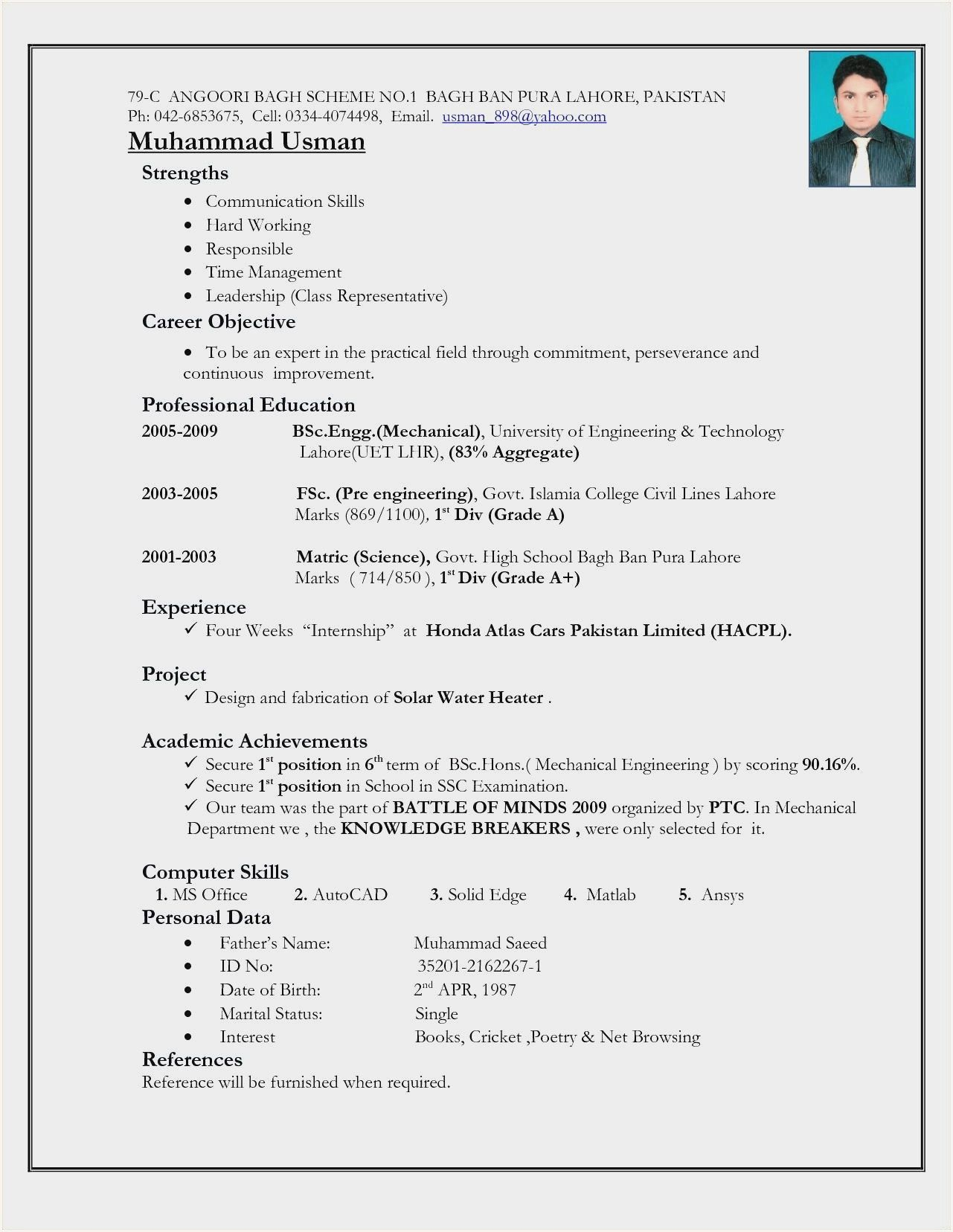 Civil Engineering Resume For Freshers In 2020 Basic Resume Engineering Resume Engineering Resume Templates