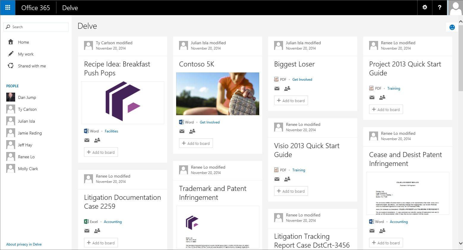 MicrosoftOfficeDelveOffice365 Microsoft office