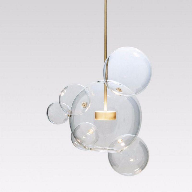 Post Modern Designer Glass Bubble Ball Led Pendant Light For Living Room Bedroom Dining Room Bar Deco 80 Glass Ball Pendant Lighting Ball Pendant Lighting Lamp