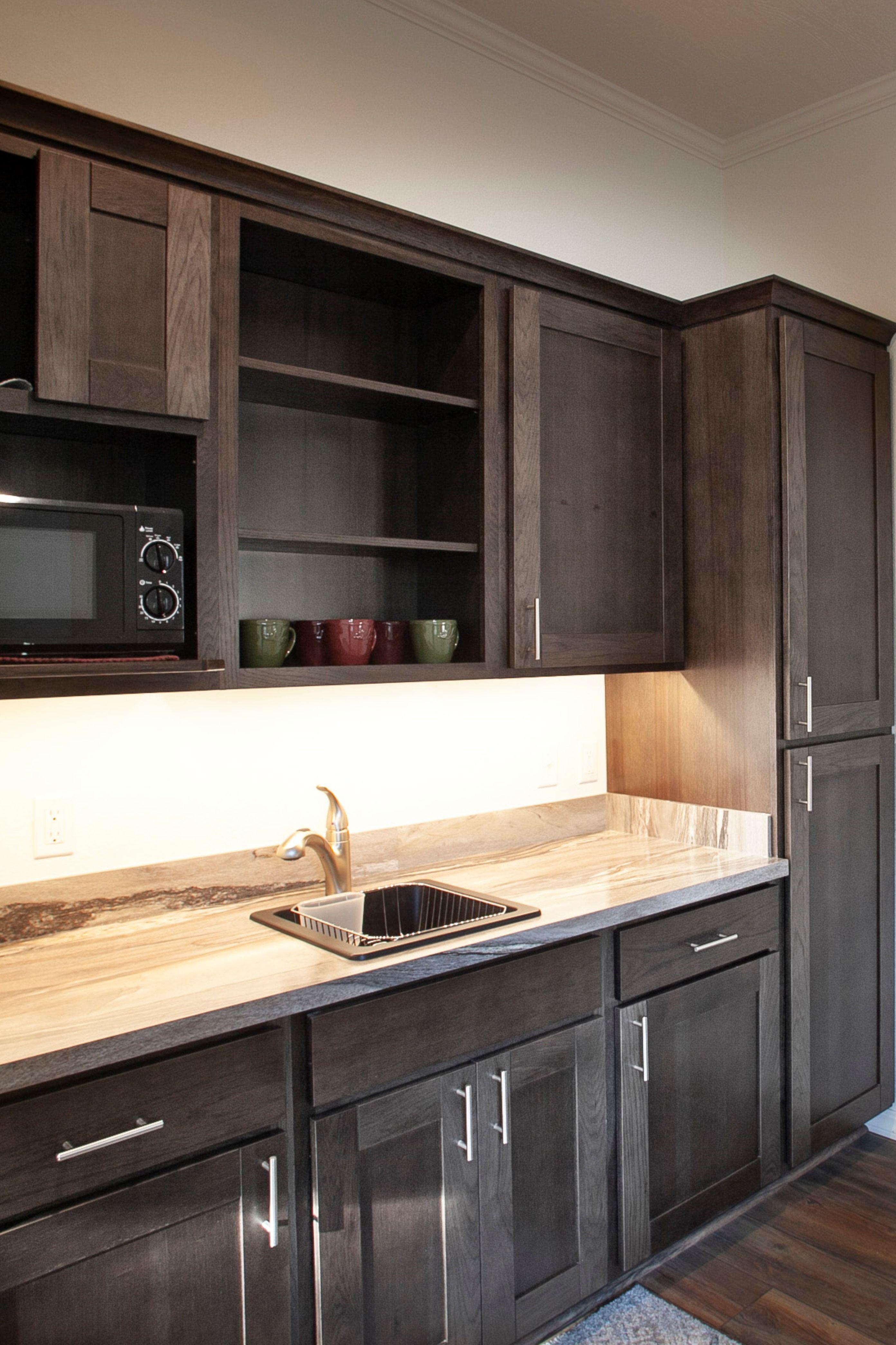 Kitchenette With Dark Cabinets Dark Cabinets Kitchenette Kitchen