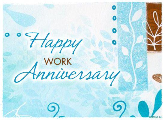 happy job anniversary cards