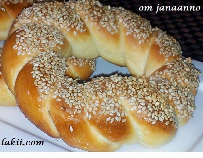 الخبز التركي خبز السمسم Simit Turkish Recipes Cooking Recipes