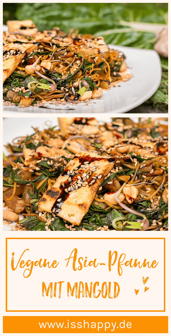 Photo of Vegan chard recipe with rice noodles & peanuts – simple & healthy