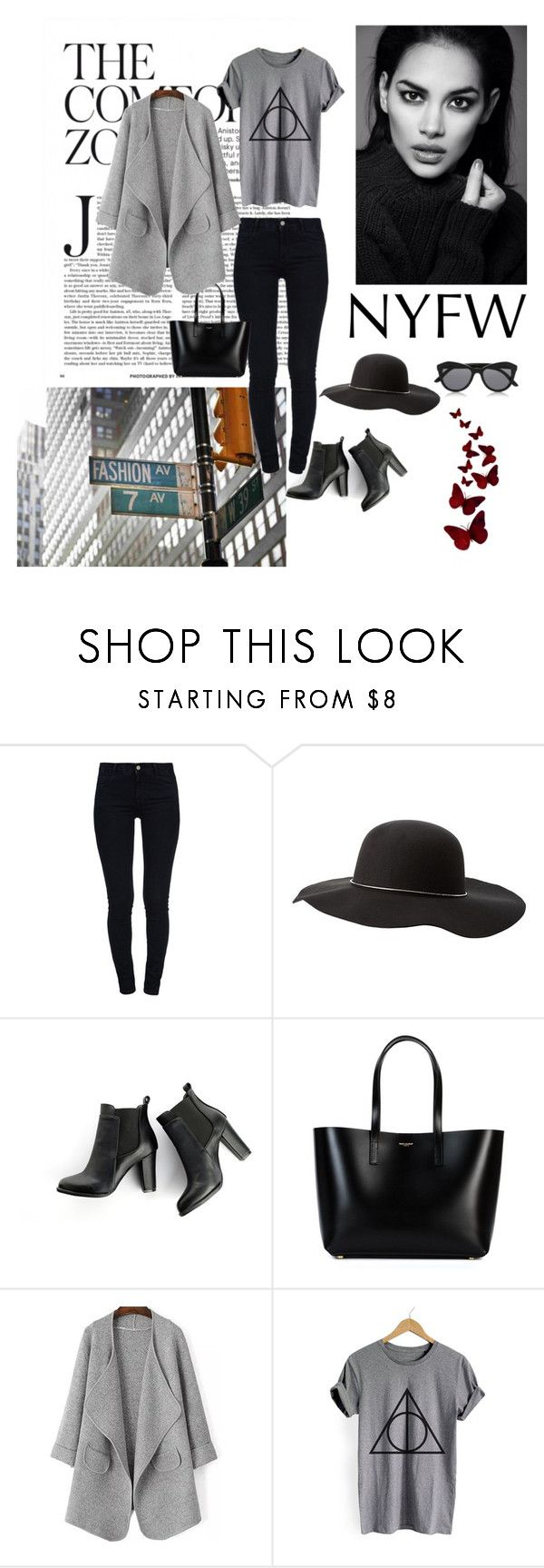 """""""NYFW Contest"""" by astridtos ❤ liked on Polyvore featuring STELLA McCARTNEY, Charlotte Russe, SWEET MANGO and Yves Saint Laurent"""