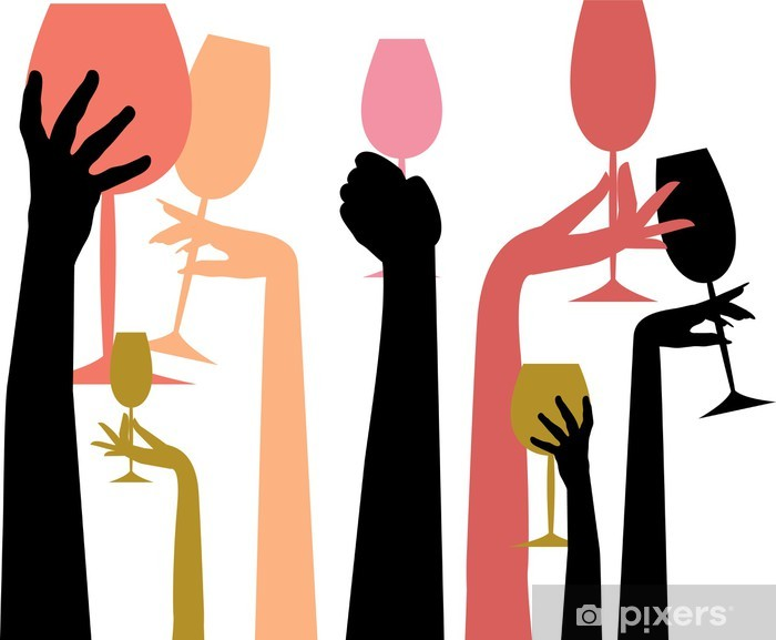 Happy Hour Colors Sticker Pixers We Live To Change In 2021 Wine Art Coloring Stickers Illustration