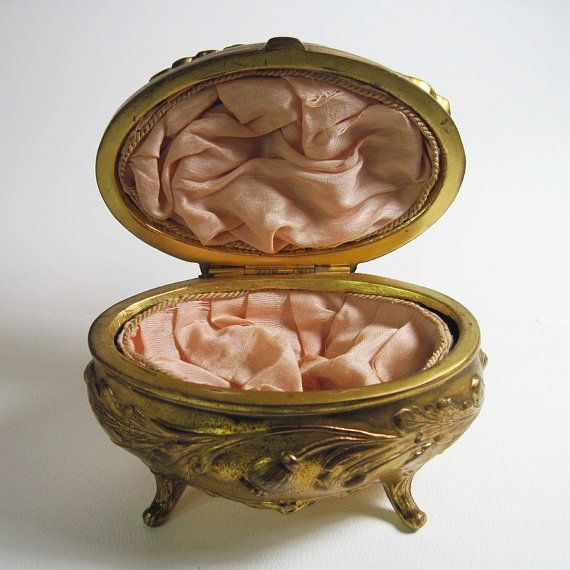 Art Nouveau Metal Jewelry Box Jewelry Casket Antique Benedict