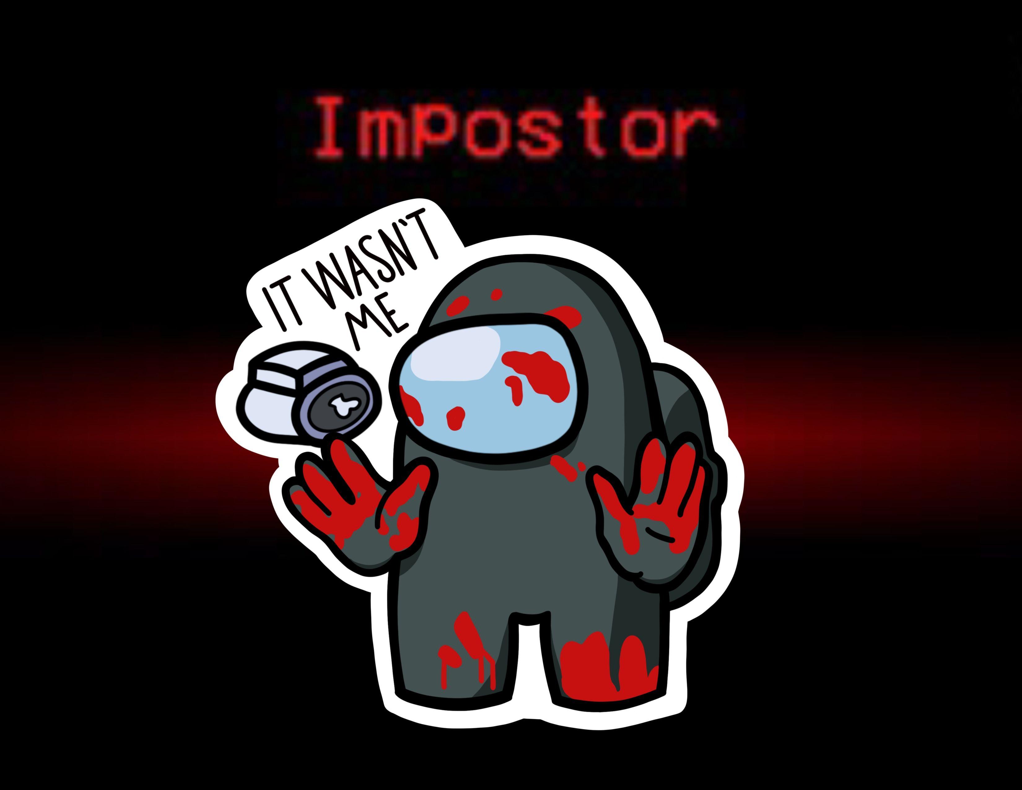 Among Us Impostor Sticker Cute Laptop Wallpaper Cartoon Wallpaper Iphone Wallpaper Iphone Cute