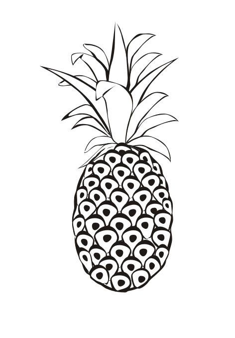 Dibujos de Piña para colorear e imprimir | Manualidades con Moldes ...