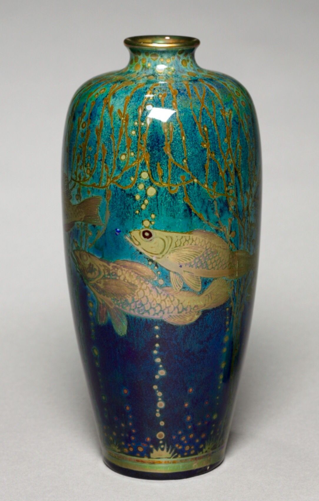 Royal Lancastrian Vase, 1914 Pilkington's Royal Lancastrian Pottery Co. (British), Richard Joyce (British, 1873-1931)