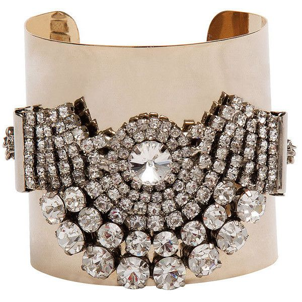 statment cuff  #bracelet #bangle #jewelry #gold #crystal #blingbling #bling #sparkle #diamond #fashion #details
