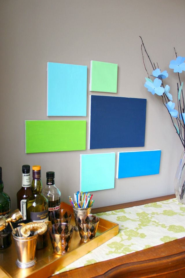 Simple wall art requires no artistic