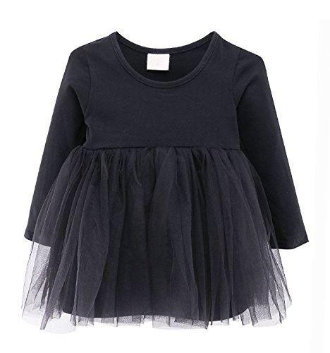 3498241f2 Guandiif Baby Girls Dresses Lace Long Sleeves Tulle Tutu Princess ...