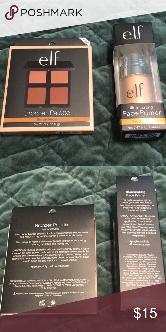 Brand New Elf Primer and Bronzer Bundle Two brand new full size ELF