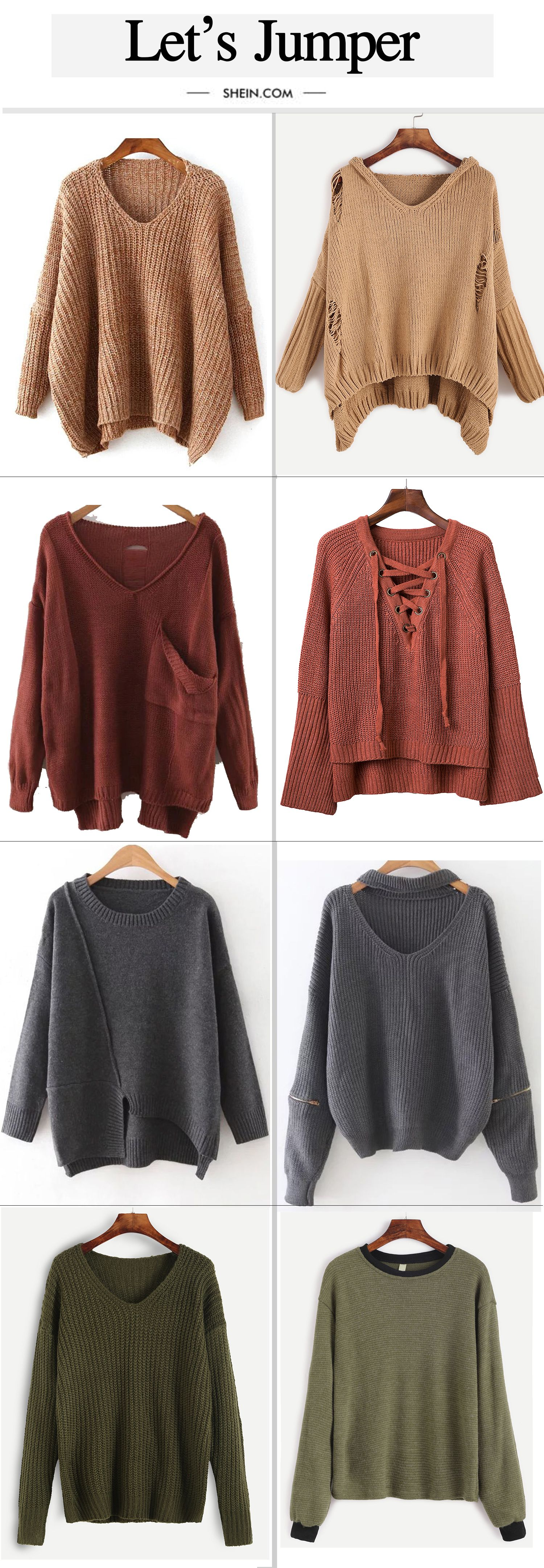 Cute drop shoulder sweater collection for fall/winter. | Love to ...
