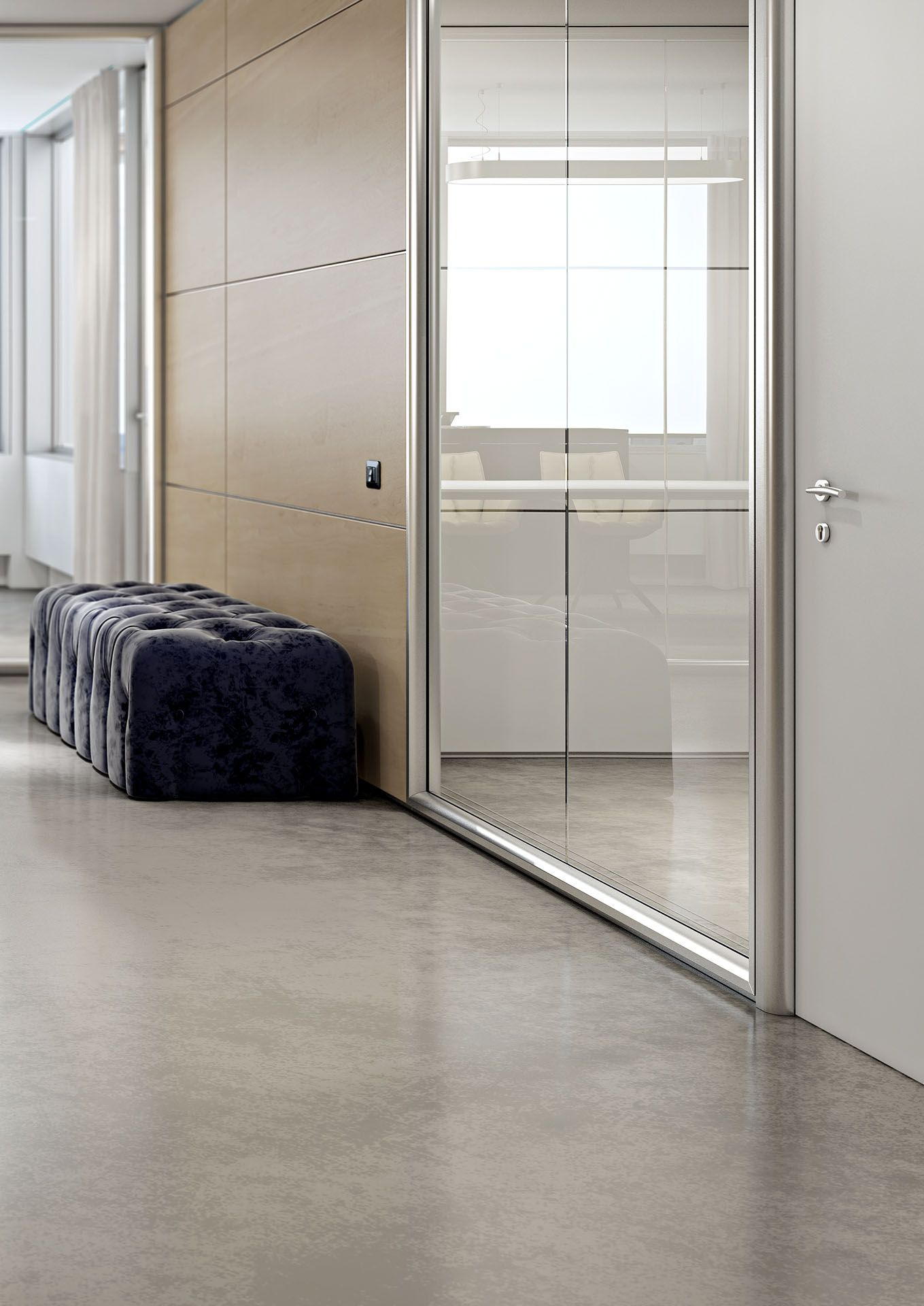 Pareti Divisorie In Vetro Colorato kristal 10 partition with single glass and round-shaped