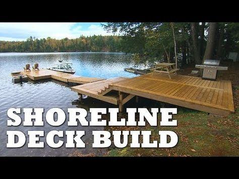 DIY Ladder for Floating Dock - YouTube Lake House Pinterest