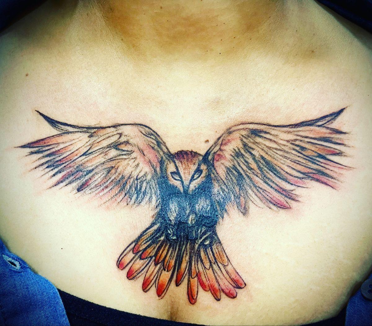 Owl Tattoo In