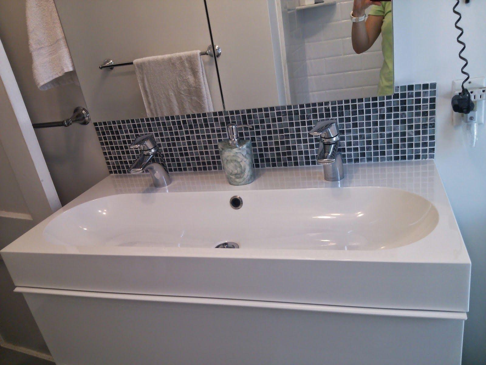 Interior Minimalist White Tone Trough Sink With Two Chrome Metal Faucet Trough Bathroom Sink With Two Faucets Trough Sink Bathroom Bathroom Faucets Trough Sink