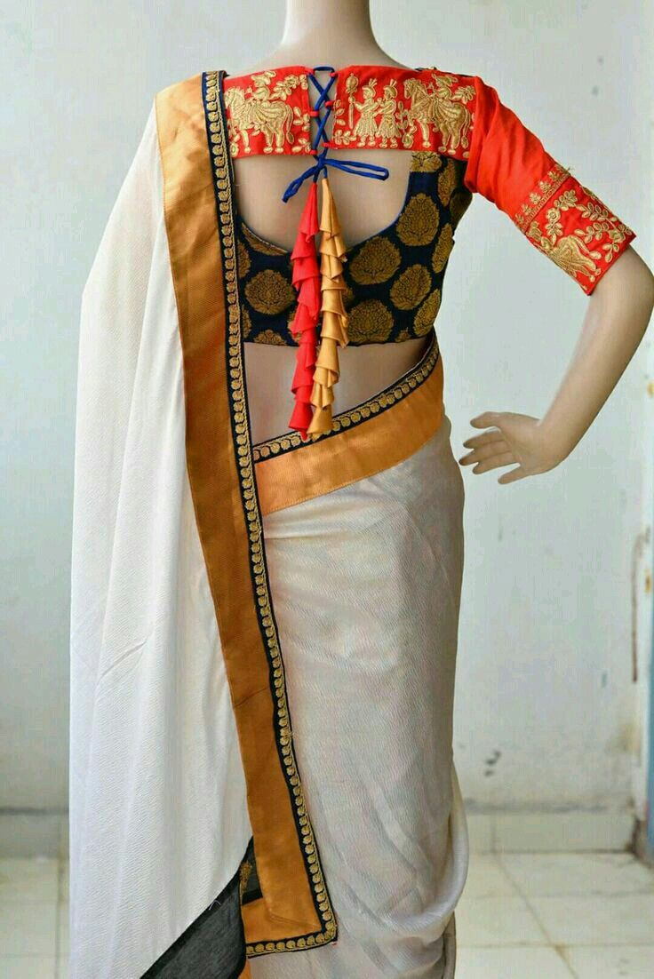 Saree blouse design sleeve pin by sonal mehta on blouse  pinterest  blouse designs saree and