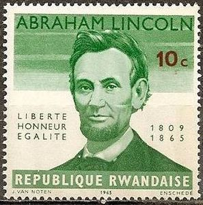 Country: Rwanda; Series: 100e anniversary of the death of Abraham Lincoln; Catalog codes: Stamp Number RW 92. Michel RW 97A