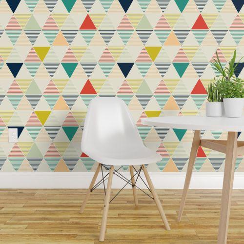 Modern Geometric Spoonflower Wallpaper Panels Wallpaper Peel And Stick Wallpaper