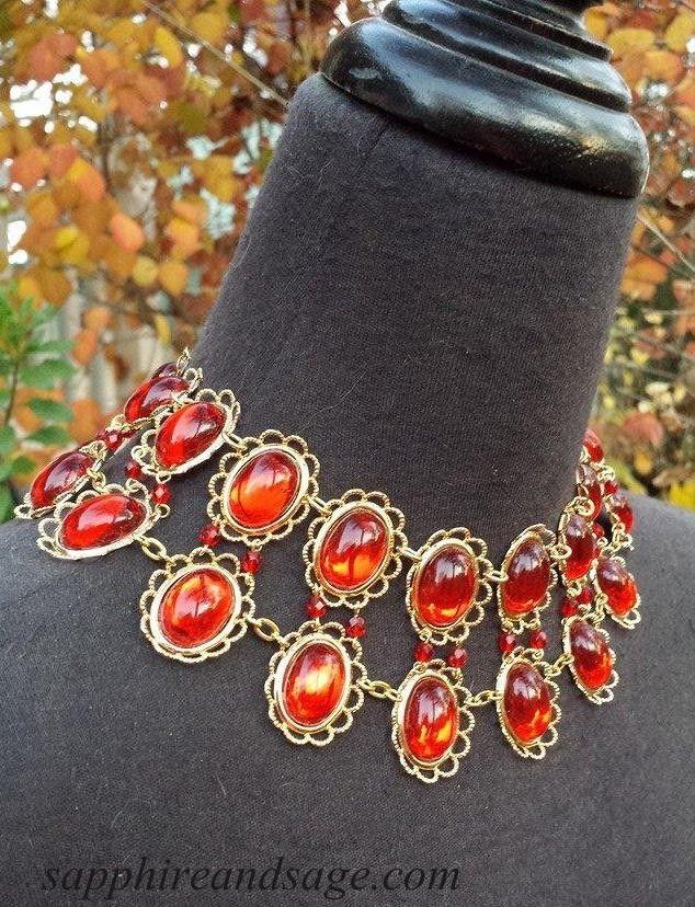 """The Tudors"" Showtime TV Series Catherine of Aragon Carcanet Choker Necklace www.sapphireandsage.com"