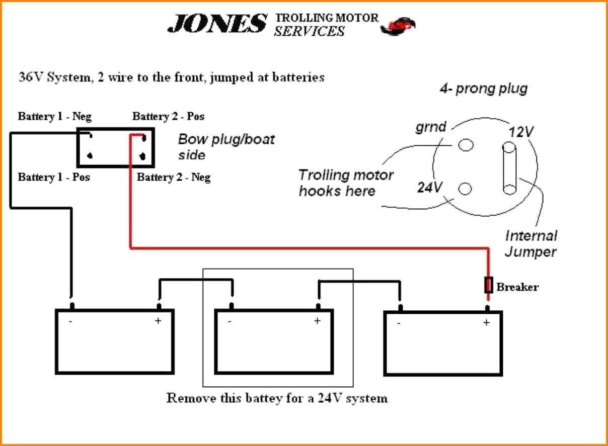 24 Volt Battery Wiring Diagram In 2020 Trolling Motor Motorguide Trolling Motor Diagram
