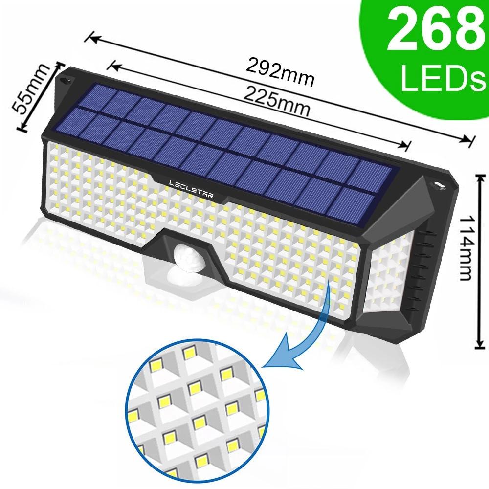 68 136 268 Led Solar Light Motion Sensor Outdoor Lighting Solar Security Wall Lamp Lamp Led Li Motion Sensor Lights Outdoor Outdoor Solar Lights Solar Lights